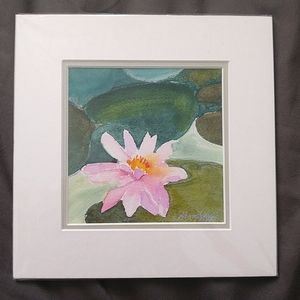 Small Water Lily Painting